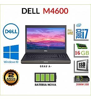 """DELL M4600 15.6"""" FULLHD I7-2720QM 16GB RAM 240GB SSD QUADRO 2000M 2GB BATERIA NOVA"""