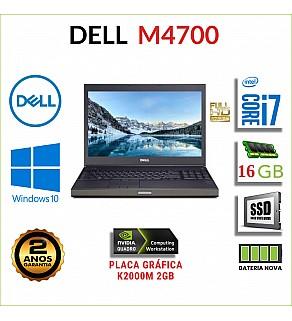"DELL M4700 15.6"" FULLHD I7-3520M 16GB RAM 240GB SSD QUADRO K2000M 2GB BATERIA NOVA"