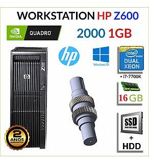 WORKSTATION HP Z600 2x XEON X5650 16GB SSD+HDD QUADRO 2000