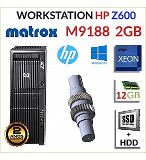 WORKSTATION HP Z600 XEON HEXA E5645 12GB SSD+HDD MATROX M9188 2GB