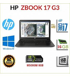 """HP ZBOOK 17 G3 17"""" FULLHD i7-6820HQ 16GB RAM 240GB SSD QUADRO M5000M 8GB"""