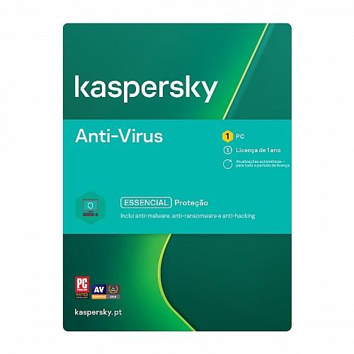 Kaspersky Antivírus 1 Ano 1 Utilizador