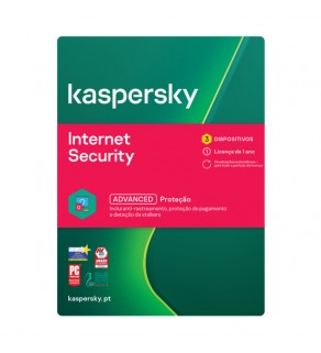 Kaspersky Internet Security 1 Ano 3 Utilizadores
