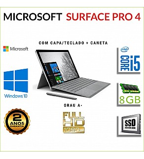 """MICROSOFT SURFACE PRO 4 12.3"""" FULLHD I5-6300U 8GB RAM 240GB SSD"""